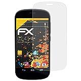 atFolix Panzerfolie kompatibel mit Yota Devices YotaPhone 2 Schutzfolie, entspiegelnde & stoßdämpfende FX Folie (3X)