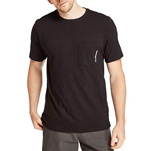 Timberland PRO Herren Base Plate Short Sleeve with Chest Pocket T-Shirt, Jet Black, Klein