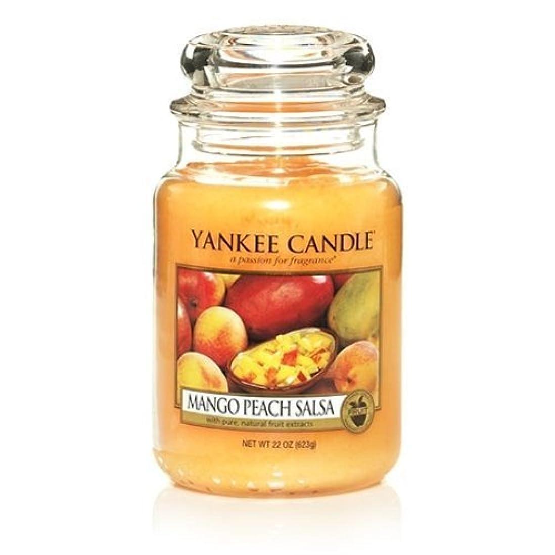 光の強制的メロドラマYankee Candle 22-Ounce Jar Scented Candle, Large, Mango Peach Salsa by Amazon source [並行輸入品]