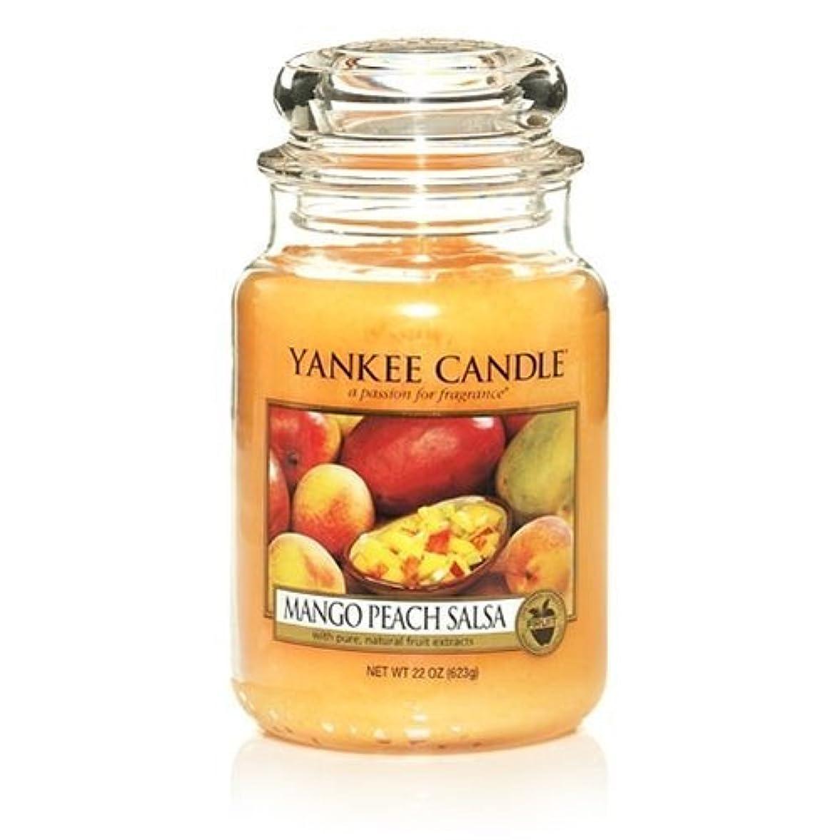 マージン軌道ジャズYankee Candle 22-Ounce Jar Scented Candle, Large, Mango Peach Salsa by Amazon source [並行輸入品]