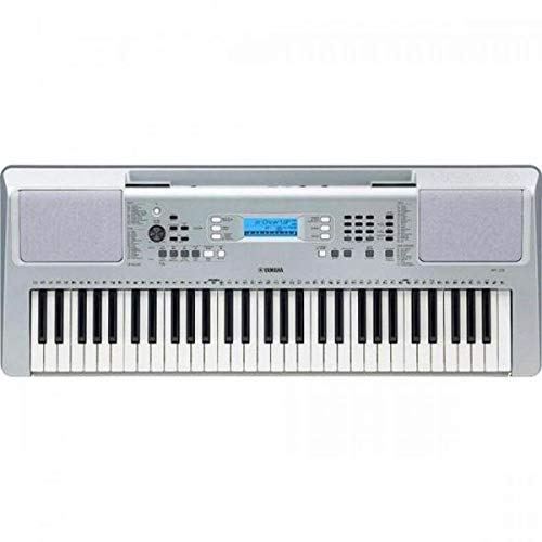 Teclado Musical Arranjador Yamaha YPT-370 com 61 teclas, 622 timbres e 48 notas de polifonia – Prata