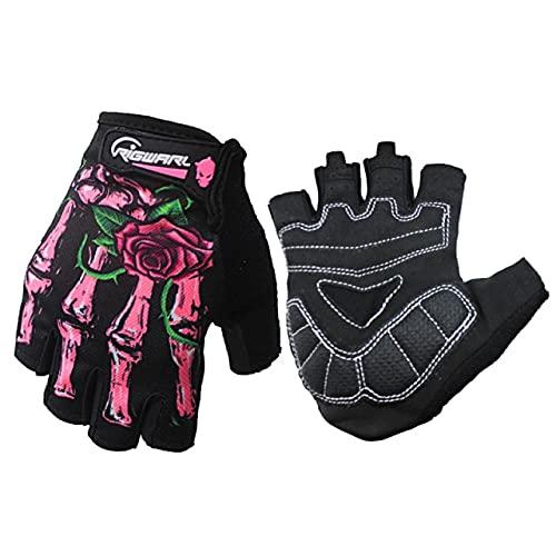 Guantes de Invierno para Motocicleta con Dedo Completo, Guantes táctiles para Pantalla, Moto, Carreras, esquí, Escalada,Ciclismo, Deporte, Motocross-Pink-4-S