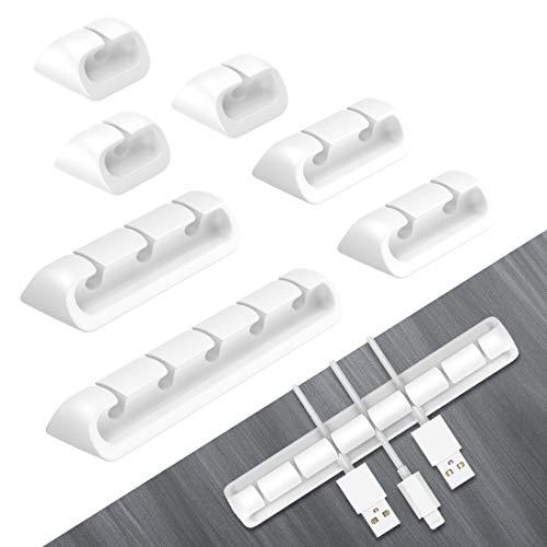 Kabelclips, Kabelhalter-Clips Selbstklebend, Kabelhalterung Multifunktion Kabelführungssysteme Kabelwandklammer Wird für Netzkabel, USB-Ladekabel, Ladegerät, Ladekabel Usw Verwendet(8 PCS)