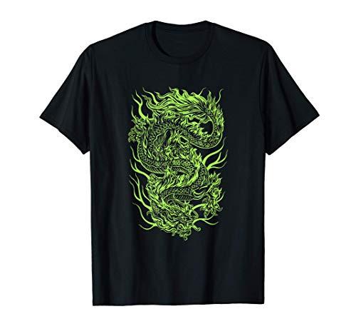 Aesthetic Green Chinese Dragon Grunge Egirl Teen Girls Women T-Shirt
