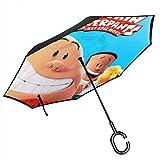 Calzoncillos de capitán de doble capa invertida para el coche, cortavientos, protección UV, paraguas recto para exteriores