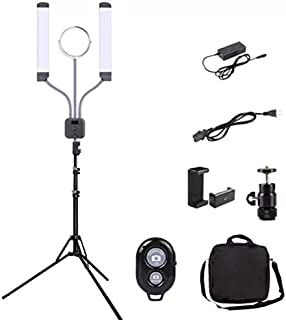 Multi Purpose Ring Light with LCD Display and Remote for Camera