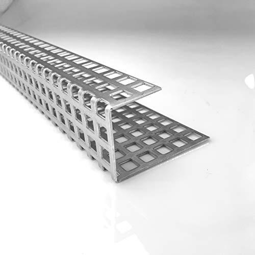 Aluminium 1,5mm dick Kiesfang Winkel Lochblech RV3-5 Kiesfangleiste Zuschnitt