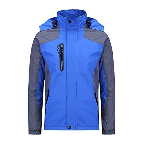 Wagsiyi Veste de Ski pour Hommes Manteaux de Ski Chauds avec Capuche S-4XL Manteau d'hiver Homme imperméable (Couleur : Color Blue, Taille : L)