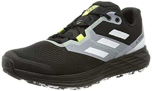 adidas Terrex Two Flow, Zapatillas de Trail Running Hombre, NEGBÁS Balcri Amasol, 42 EU