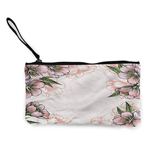 Peach Zipper Coin Pouch Zipper Storage Case Cosmetic Bags Abstract Ombre Fene