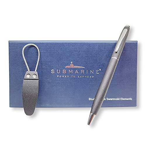 Submarine Studded with Swarovski Elements & Brass Body Ball Pen & Keychain Combo Set