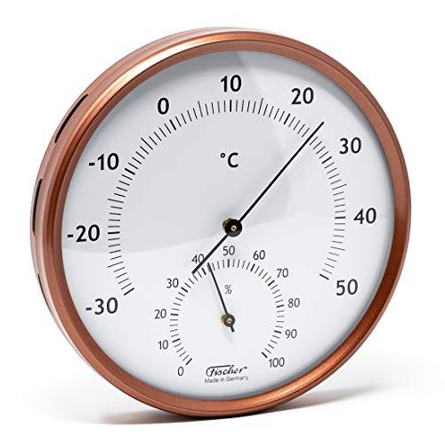 Fischer 186TH-46 Thermo-Hygrometer für innen und außen, Manufaktur aus Deutschland