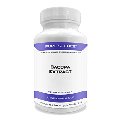 Pure Science の バコパ (Bacopa) - Contain 50% Bacosides - 600mg - 50ベジタリアンカプセル - アメリカ製 - 海外直送品
