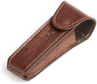 MÜHLE Brown Leather Safety Razor Travel Pouch