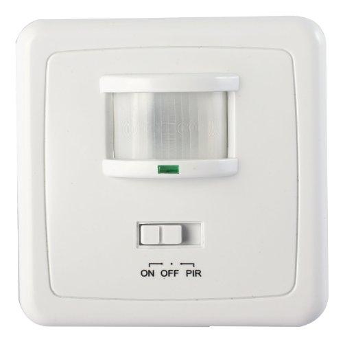 Inbouw bewegingsmelder 600 W licht schakelaar LED wand inbouw infrarood wit 205 (2xbewegingsmelder CR205)