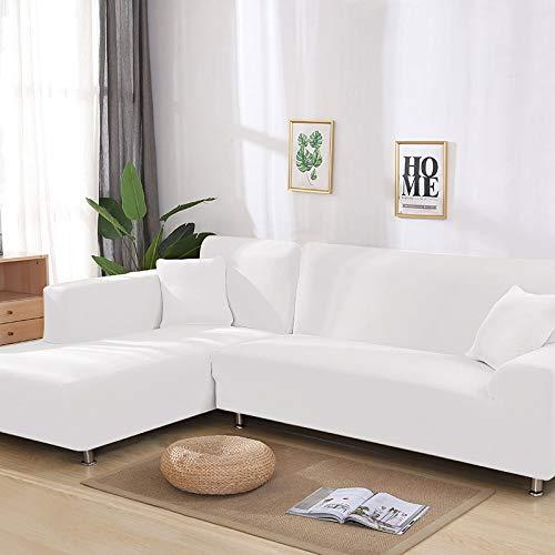 ASCV Juego de Fundas de sofá Funda de sofá geométrica Funda de sofá elástica para Sala de Estar Esquina de Mascotas en Forma de L Chaise Longue Funda de sofá A3 3 plazas