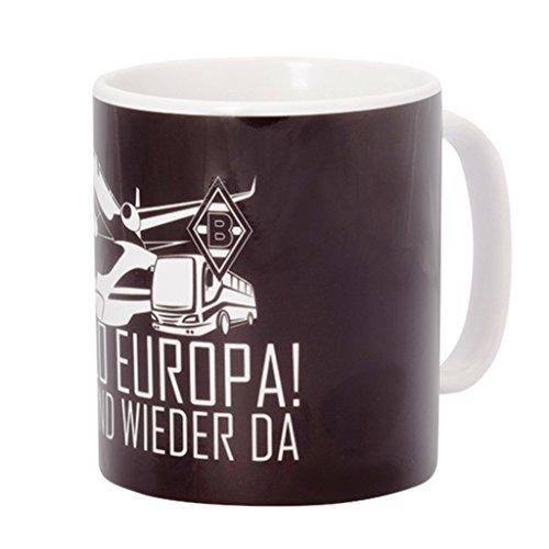 Borussia Mönchengladbach Tasse/Kaffeetasse/Kaffeepott/Mug/Becher Europa BMG - Plus gratis Aufkleber Forever Mönchengladbach