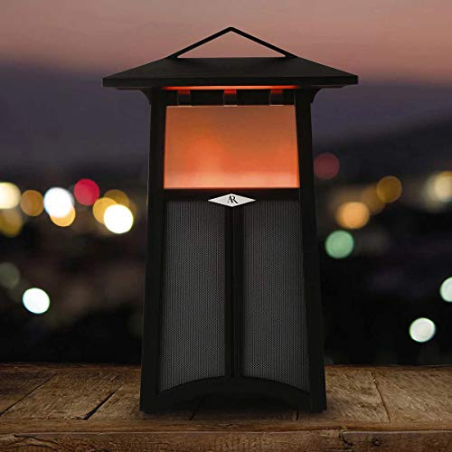 Acoustic Research Santa Cruz Portable Wireless Bluetooth Indoor/Outdoor Speaker with LEDs Flickering Flame Light