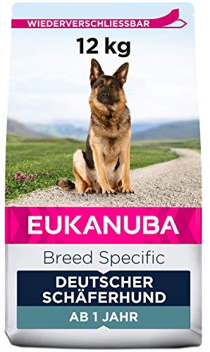 Eukanuba Breed Specific Deutscher Schäferhund Trockenfutter - optimal auf die Rasse abgestimmtes Premium Hundefutter mit Huhn, 12 kg