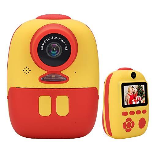 Lazmin 1080P HD Cámara de impresión instantánea, Pantalla de visualización de 2.0 Pulgadas, cámara de Juguete Digital de Doble Lente, Tomar Fotos/Videos/Imprimir Fotos, Regalos para niños/niñas