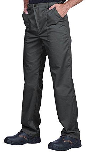 Pantalones de trabajo para hombre, S - XXXL, Pantalones de seguridad, Made in EU, Azul, Rojo, Verde, Bianco (XL, Gris)