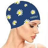 Best Waterproof Swim Caps - Marsolly Silicone Swim Cap for Women, Waterproof Long Review