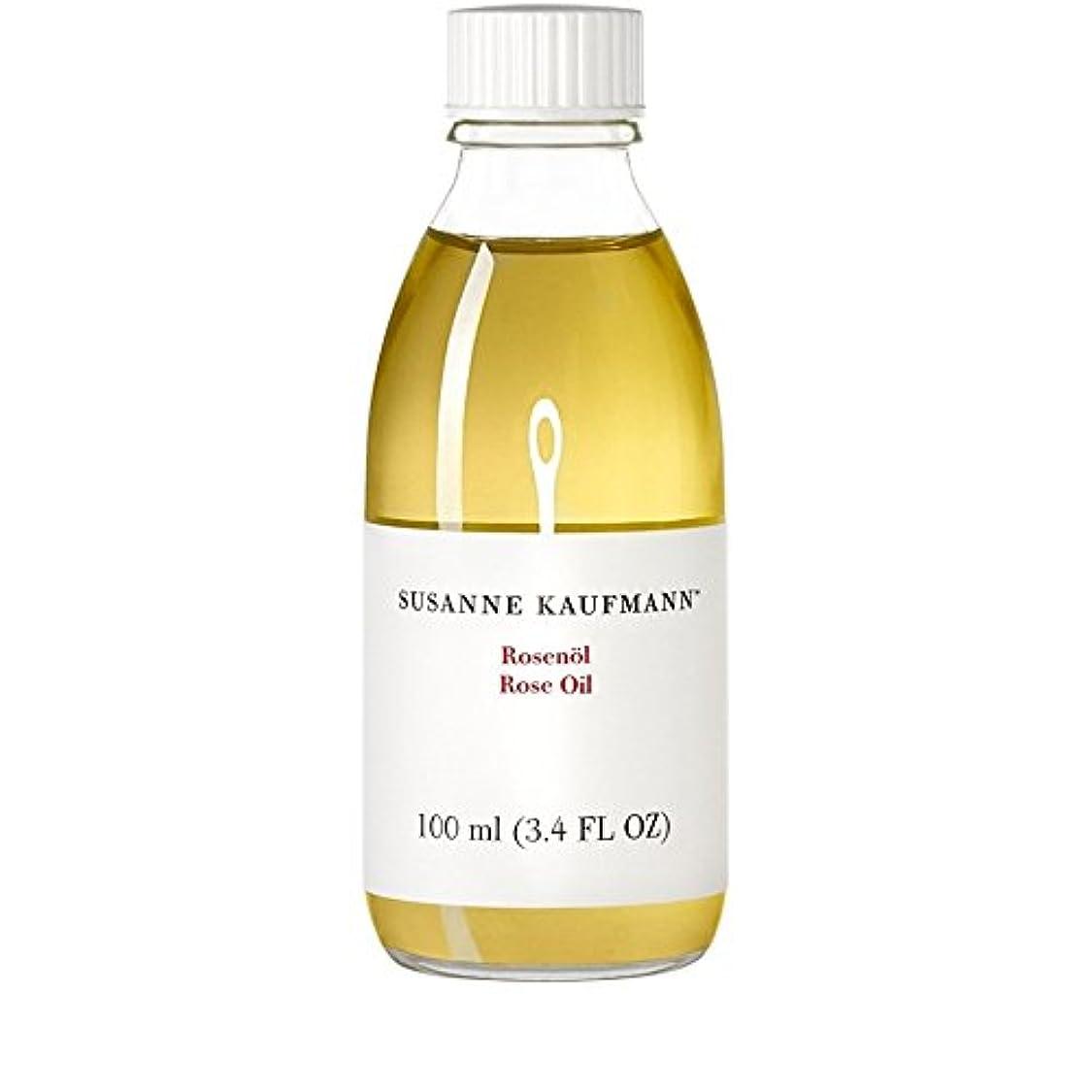 部分的にブラシ賞賛するSusanne Kaufmann Rose Oil 100ml (Pack of 6) - スサン?カウフマンオイル100ミリリットルをバラ x6 [並行輸入品]