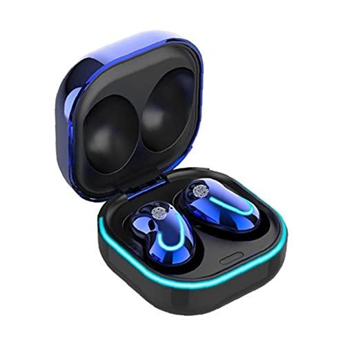 FeelMeet Inalámbrica Bluetooth 5.1 Auriculares de los Auriculares de Manos Libres Auriculares Impermeables portátiles con Estuche Cargador para el teléfono Azul