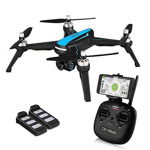 HELIFAR B3 Drone GPS, FPV Drone con Camara HD 1080p, 5G WiFi GPS Quadcopter, Drone Profesional con Follow me, 120º Gran Angular, RTF Altitude Hold, Retorno automático de batería Baja ( Dos baterias)