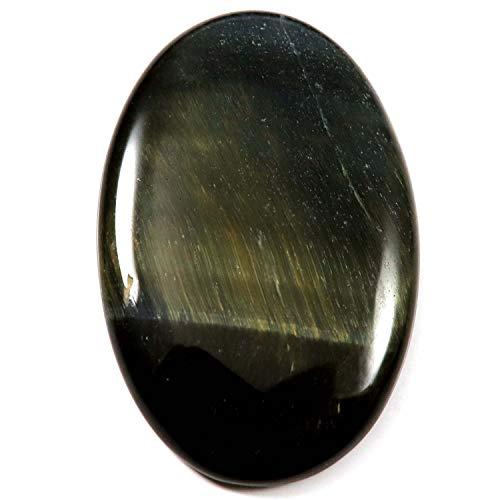 Gems&JewelsHub HW55 Blauer Tigerauge natürlicher Cabochon Ovaler Edelstein 60,1 Karat