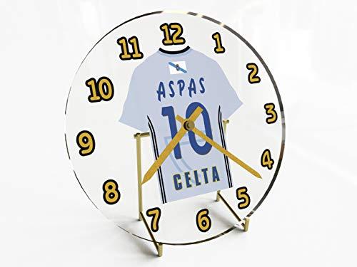 MyShirt123 La Liga – spanische Fußballtrikot-Uhr – jeder Name, Jede Nummer und jedes Team – kostenlose Personalisierung ! FC Celta Vigo