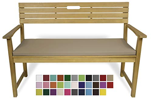 Rollmayer Bankkissen Bankauflage Sitzkissen Bankpolster Auflage für Bänke in Haus und Garten Kollektion Vivid, 1 Stück (Beige 3, 120x40x4cm)