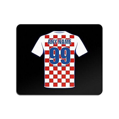 UNIGIFT Personalisierbares Geschenk – Kroatien Nationalmannschaft Design Farbe Name Nummer Unique Pad FC Trikot Trikot Trikot EM 2016 Euro