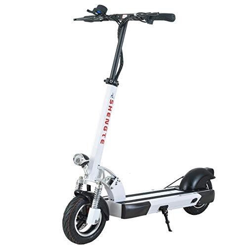 Minkui Scooter Elettrico per Adulti, Scooter Pieghevole per Città, Faro a LED, Motore Potente 48V500W, Batteria al Litio da 28,6 Ah, Lunga Durata della batteria-36V500W / 31.2AH_10 Pollici