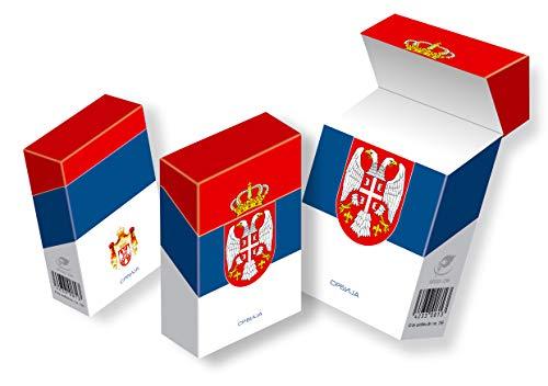 slipp overall - Zigarettenschachtel-Überzieher mit Deckel - Ländermotive (109 Serbien, 3 Stück)