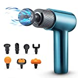 Moolan Massage Gun Deep Tissue Percussion Muscle Massage Handheld Electric Massager for Pain Relief Athlete Deep Muscle Relaxation Deep Muscle Massager Gun with 7 Head and 10 Hour Battery Life …