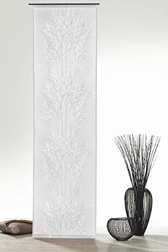 Gardine Flächenvorhang in Batist-Optik Baum Äste in natur o. stein halbtransparent HxB 245x60 cm - Scheibengardine Ausbrenner Modern Chic ...auspacken, aufhängen, fertig! Schiebevorhang Typ326