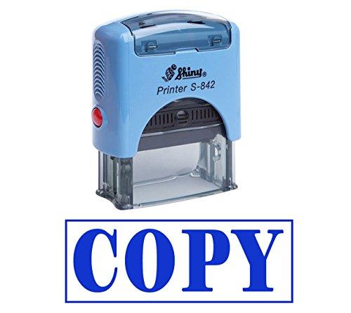 COPY zelfkleurende stempel gebruikersgedefinieerd Shiny kantoor stationair stempel Blau Tinte