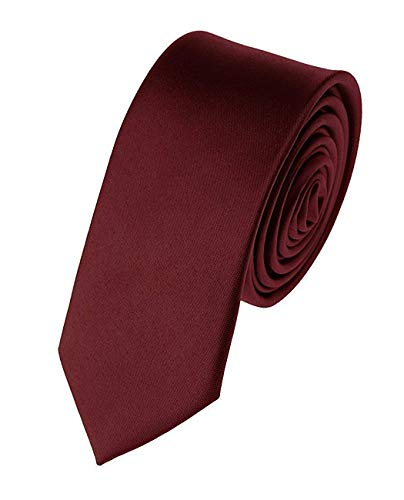 "Alcove Men's/Boys Maroon Slim/Narrow Satin Tie (Broad 2"")"