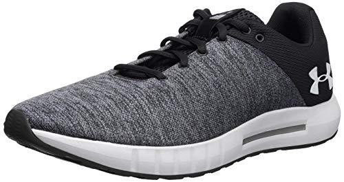 Under Armour Men's Micro G Pursuit Twist Running Shoe, Black (001)/White, 10