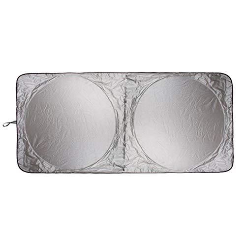 WEQQ 190 x 90 cm Auto Sonnenschutz Sonnenschutz Windschutzscheibe Front Heckscheibe Film Visier (Silber)