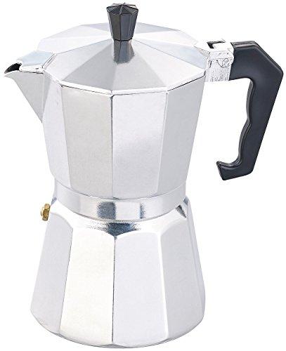 Cucina di Modena Espressokocher: Espresso-Kocher für 6 Tassen, für Gas, Elektro-Herd und Ceran-Feld (Espressokocher für unterwegs)