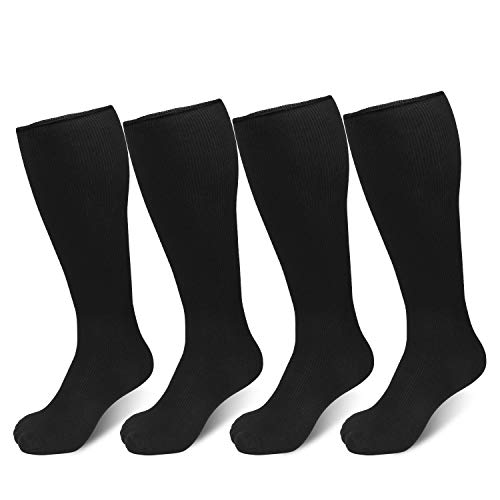 Cierto Winter Socks,Warm Socks,Thermal Sports Socks for Men and Women 4 Pairs/Pack,Black & Gray