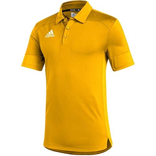 adidas Under The Lights Coaches Polo - Men's Multi-Sport 2XL Team Collegiate Gold/White