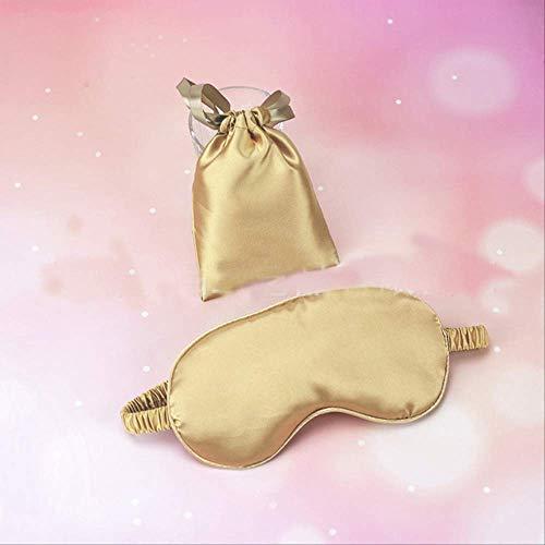Augenmaske für schlafende Seide, 100% reine Seide Doppelseite Schattierung Schatten schlafen Augenmaske, für Männer, Frauen und Kinder gold