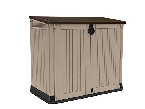 Keter Store It Out Midi Outdoor Garden Shed, Taupe/Beige, 800 Litres