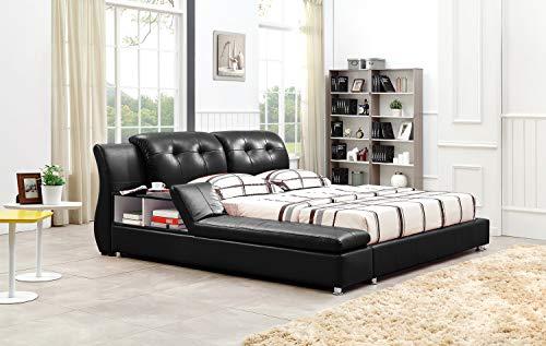 Greatime B2003 Platform Bed (King, Black)
