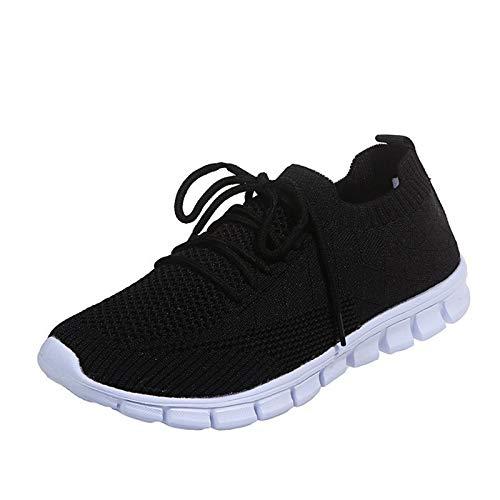 Zapatillas de Running para Hombre Mujer Zapatos para Correr y Asfalto Aire Libre y Deportes Calzado Ligero Transpirable 1228