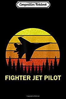 Composition Notebook: USA Fighter Jet Plane Pilot Silhouette for USA Force Crew Journal/Notebook Blank Lined Ruled 6x9 100 Pages
