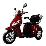 Triciclo Scooter Sencilla TS9, Eléctrica, Vehículo para personas con Movilidad Reducida, 500w, Negro, Amarillo, Azul